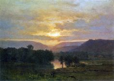 19th century American Paintings: George Inness, ctd,  Sunset