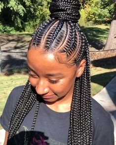 African Braids Hairstyles Pictures, Feed In Braids Hairstyles, Black Girl Braided Hairstyles, Braided Ponytail Hairstyles, Frontal Hairstyles, Black Girl Braids, Braids For Black Hair, Braided Updo, Protective Hairstyles
