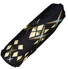 Natural Luxe - engage green - recycled plastic black stars yoga mat bag