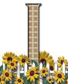 Letra con verja floral.....I
