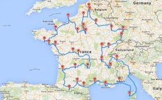 On a mis au point le road trip optimal pour visiter la France