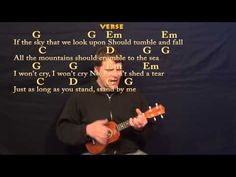 Stand By Me (Ben E King) Easy Ukulele Cover Lesson in G with Chords-Lyric - YouTube
