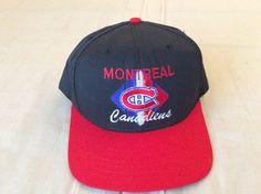 VINTAGE MONTREAL CANADIENS HOCKEY SNAPBACK CCM SEWN HAT, ONE SIZE #CCM #MontrealCanadiens