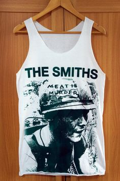 5f7a487afc4d18 The Smiths Shirt Meat Is Murder Shirts Tank Top Sleeveless Vest summer  white Tank Top print T-Shirt indie Unisex M on Etsy