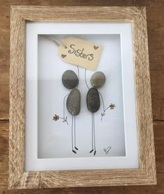 Box Frame Art, Box Frames, Stone Crafts, Rock Crafts, Christmas Pebble Art, Twig Art, Pebble Art Family, Rock Sculpture, Pebble Pictures