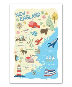 Another great find on #zulily! 'New England' Dish Towel #zulilyfinds