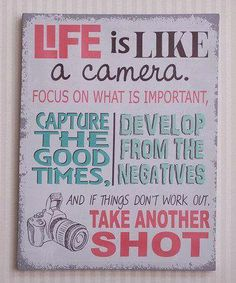 Smile because today is your day to take your shot