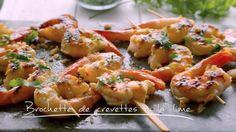 Brochettes de crevettes à la lime   Cuisine futée, parents pressés Quebec, Spot Prawns, Crockpot Recipes, Healthy Recipes, Healthy Food, Fast Easy Meals, One Pot Meals, Fish And Seafood, Summer Recipes