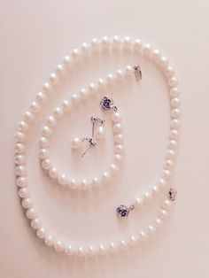 Fashion, necklace, pearl, set, earing, white