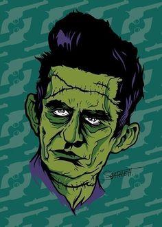 Zombie Johnny Cash by nikscarlett (etsy) Zombie Makeup ideas for Brain Eater's Ball - Champaign, IL facebook.com/cuzombieagogo