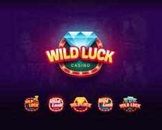 Ui/Ux game designer and game artist - wild luck casino for viber - ui/ux. Doubledown Casino, Casino Logo, Casino Slot Games, Casino Cakes, Casino Night Party, Casino Theme Parties, 80s Party, Themed Parties, 3d Logo