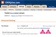 How to buy a domain name & set it up in Blogger