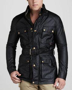 Roadmaster Belted Jacket, Black by Belstaff at Bergdorf Goodman $850.00