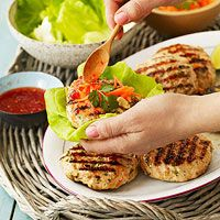 Thai Turkey Burgers In Lettuce Wraps image