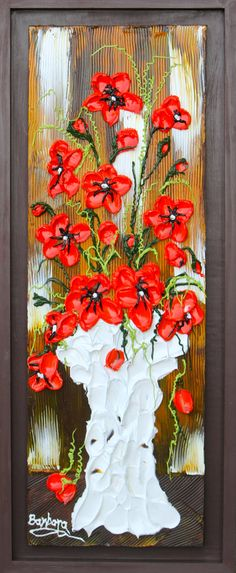 Happy Place Acrylic Floral Impasto Painting by CreativeWomanhood, $350.00