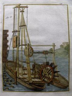 1719 Grollier de Serviere Scarce Folio Handcol Paddle Hydraulic Press Groynes | eBay