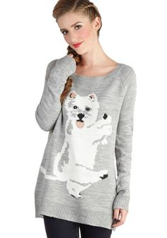 Trickster Treat Sweater, #ModCloth  What a cute Westie!