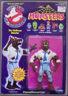 Kenner The Real Ghostbusters Wolfman Monster 1986 90s Toys, Retro Toys, Vintage Toys, Ghostbusters Toys, Extreme Ghostbusters, Disney Precious Moments, Morbid Humor, Toy Catalogs, Real Monsters