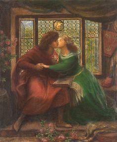 Paolo and Francesca da Rimini by Dante Gabriel Rossetti (1867)