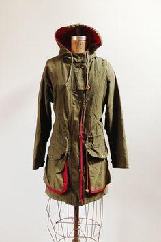 Vintage Anorak Coat / Hooded Eddie Bauer Jacket by PlumeCanyon, $55.00