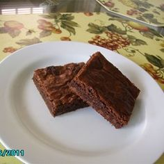 Best Brownies from Allrecipes.com. These were terrible. They were not fudgy and tasted more like chocolate cake. They're easy but they don't taste like brownies.