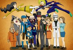 Some characters from Professor Layton. This is awesome!