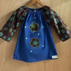 Denim Boho Dress, size 3t by SewMeems on Etsy