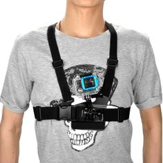 Adjustment Elastic Body Chest Strap Mount Belt Harness for GoPro Hero 3 Hero 2