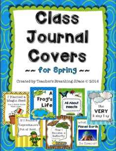 Whole Class Journal Covers for Spring --- March / April Journal Covers from Teacher's Breathing Space on TeachersNotebook.com -  (13 pages)  - Whole Class Journal Covers for Spring --- March / April Journal Covers