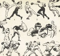 1951 french print. Boxe Boxing by willowbarq on Etsy