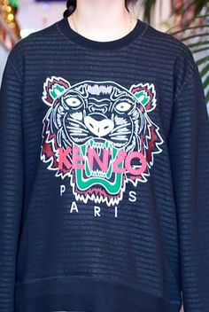 KENZO TIGER CREW NECK SWEATER is now available!!! #kenzo @kenzoparis_hq #wildstylela