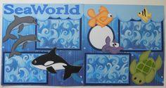 Sea World Scrapbook Layout... Would work for Aquarium photos too.
