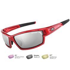 Tifosi Camrock Metallic Red Golf Interchangeable Sunglasses - Smoke-GT™-EC™