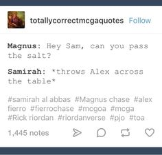 I think the salt would be magnus. Drarry, Solangelo, Percabeth, Rick Riordan Series, Rick Riordan Books, Rick E, Uncle Rick, Percy Jackson Memes, Percy Jackson Fandom