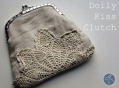Doily Kiss Clutch DIY