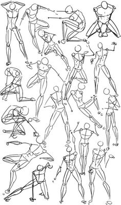 How to Draw the Human Body - Study: Male Power & Action Poses for Comic / Manga Character Reference: