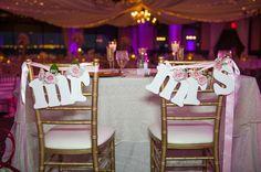 Bride and Groom Chair Letters    Photography: Andi Diamond Photography   Read More:  http://www.insideweddings.com/weddings/a-waterfront-winter-wedding-with-blush-gold-details-in-tampa-fl/638/