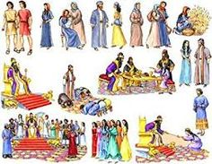 Ruth and Esther Felt Figures for Flannel Board Bible Stories-precut Queen Esther Bible, Ruth Bible, Sunday School Projects, Sunday School Activities, Bible Crafts, Bible Art, Scripture Study, Kids Church Games, Kids Camp