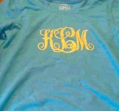 Monogrammed shirt for Kayla!