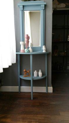 Half ronde tafel in Vintage blue van Kwantum