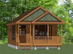 18x32 Tiny House -- 576 sqft -- PDF Floor Plan -- Model 1D