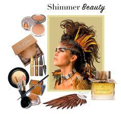 """Shimmer Beauty"" by ragnh-mjos ❤ liked on Polyvore featuring beauty, MAC Cosmetics, Bobbi Brown Cosmetics, Urban Decay, Tarina Tarantino, Smashbox, Burberry, TheBalm, contest and Beauty"