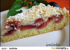 Cuketový koláč s ovocem recept - TopRecepty.cz Pavlova, Cake Recipes, Sweet Tooth, French Toast, Sandwiches, Food And Drink, Treats, Breakfast, Desserts