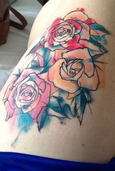Roses by Danny Madsen at Goodtimes Tattoo in Salt Lake City, UT #tattoo #ink