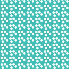 Mushroom Dots - Blue fabric by papersparrow on Spoonflower - custom fabric