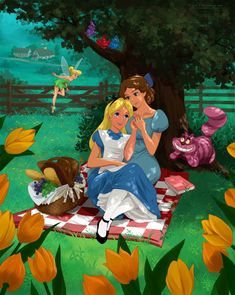 Gay Disney Characters Find Their Happily Ever Afters Through Art This makes me a little uncomfortable, but I applaud the ....?.... Not sure how to word it. Let's try... acceptance of homosexuality? Whatever. Liked this.