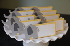 Elepahnt Place Cards Elephant Seating Cards Elephant by GiggleBees, $12.00