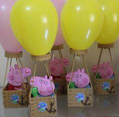 Peppa Pig Birthday Decorations, 2nd Birthday Party Themes, Kids Party Themes, Boy Birthday Parties, Birthday Balloons, 3rd Birthday, Cumple Peppa Pig, Pig Party, Balloon Decorations