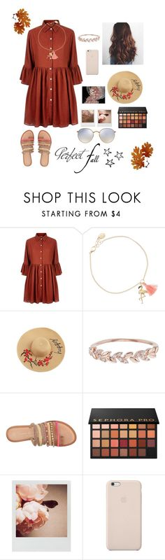"""""""Perfect fall  🍁"""" by ananyasharmad85 ❤ liked on Polyvore featuring Mela Loves London, claire's, Accessorize, Chinese Laundry, Sephora Collection, Impossible Project, Polaroid, Black Apple, Ray-Ban and Tag"""