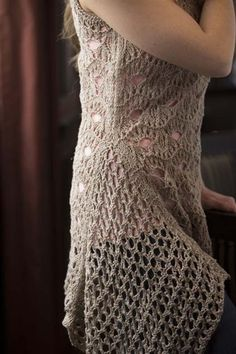 Open Eye Tunic by Deborah Helmke, from Interweave Knits, Summer 2013, Knitting Daily